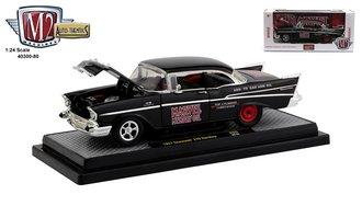 "1:24 1957 Chevrolet 210 Hardtop ""Marvel Mystery Oil"" (Semi-Gloss Black)"