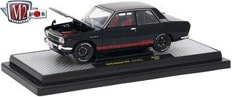 1:24 Auto-Japan 1970 Datsun 510 (Gloss Black w/Bright Red Stripes)
