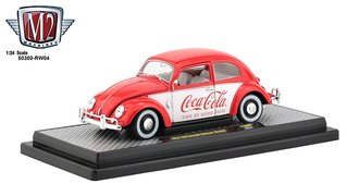 Coca-Cola 1:24 1952 VW Beetle Deluxe Model (Red/White)