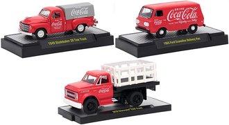 """1:64 Coca-Cola Release RW01 (Set of 3) """"Hobby"""""""