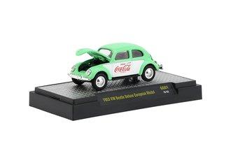 1:64 Coca-Cola 1953 Volkswagen Beetle Deluxe European Model (Georgia Green/White)