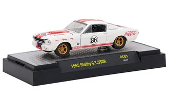 1:64 Coca-Cola 1965 Shelby GT-350R (White w/Red Racing Stripes)