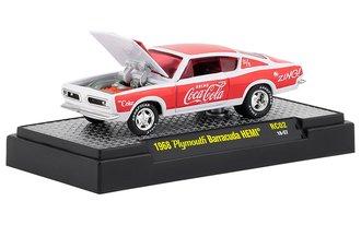 1:64 Coca-Cola 1968 Plymouth Barracuda HEMI (White/Red)