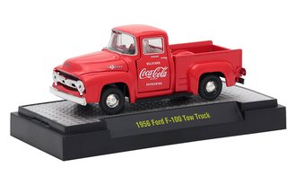 1:64 Coca-Cola 1956 Ford F-100 Pickup Truck (Red)