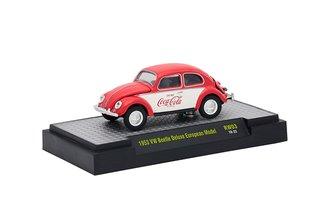1:64 Coca-Cola 1953 VW Beetle Deluxe European Model (Red/White)