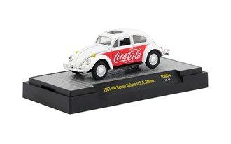 1:64 Coca-Cola 1967 Volkswagen Beetle Deluxe USA Model (White/Red)
