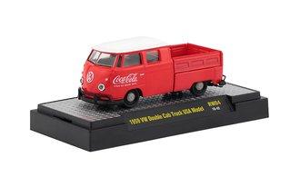 1:64 Coca-Cola 1959 Volkswagen Double Cab Truck USA Model (Red/White)
