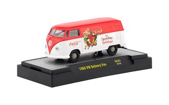 "1:64 Coca-Cola 1960 VW Delivery Van ""For Sparkling Holidays"" (Red/White w/Red Top)"