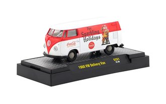 "1:64 Coca-Cola 1960 VW Delivery Van ""For Sparkling Holidays"" (Red/White w/White Top)"