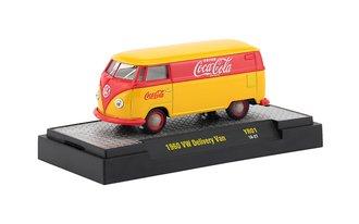 1:64 Coca-Cola 1960 Volkswagen Delivery Van (Yellow/Red)