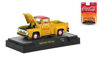 1:64 Coca-Cola 1956 Ford F-100 Pickup Truck (Yellow)