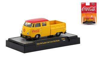 1:64 Coca-Cola 1959 VW Double Cab Truck USA Model (Yellow)