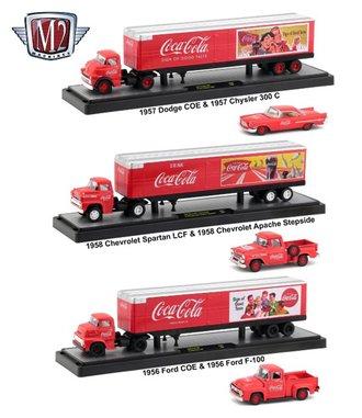 "1:64 Coca-Cola Auto-Haulers - Release 50S01 (Set of 3) ""1950's"""