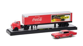 1:64 Coca-Cola 1957 Dodge COE w/1966 Dodge Charger 383 (Red)