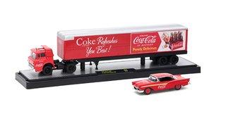 1:64 Coca-Cola 1957 Ford C-600 w/1957 Ford Fairlane 500 (Red)