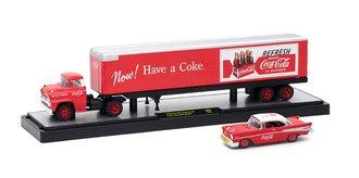 1:64 Coca-Cola 1958 Chevrolet Spartan LCF w/1957 Chevrolet Bel Air (Red)