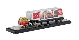 1:64 Coca-Cola 1966 Dodge L600 COE w/1966 Dodge Charger HEMI (Gold/Red)