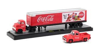 1:64 Coca-Cola 1956 Ford COE w/1956 Ford F-100 (Red)
