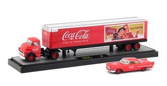 1:64 Coca-Cola 1957 Dodge COE w/1957 Chrysler 300C (Red)