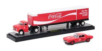 1:64 Coca-Cola 1970 Chevrolet C60 Truck w/1971 Chevrolet Camaro SS 396 (Red)