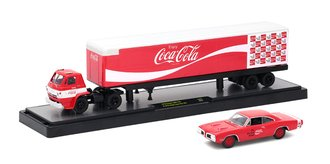1:64 Coca-Cola 1970 Dodge L600 w/1970 Dodge Super Bee 383 (Red)