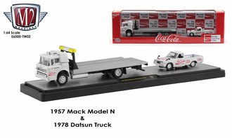 Coca-Cola 1:64 1957 Mack Model N w/1978 Datsun 620 Truck
