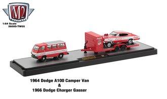 "1964 Dodge A100 Camper Van w/1966 Dodge Charger Gasser ""Coca-Cola"""