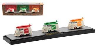 1:64 Coca-Cola 1960 VW Shorty Delivery Vans - Coca-Cola, Sprite & Fanta Orange