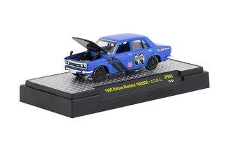 """1:64 1969 Datsun Bluebird 1600SSS """"Mooneyes"""" (Blue)"""