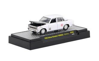 "1:64 1969 Datsun Bluebird 1600SSS ""Mooneyes"" (Bright White w/Black Hood)"