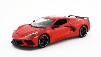 1:18 2020 Chevrolet Corvette Stingray Coupe (Red)