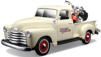 Harley-Davidson 1950 Chevy 3100 Pickup (Beige) w/2001 FLSTS Heritage Springerdes