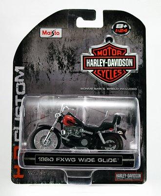 Harley-Davidson 1980 FXWG Wide Glide (Black w/Flames)