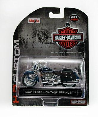 Harley-Davidson 2001 FLSTS Heritage Springer (Blue)