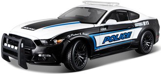 """1:18 2015 Ford Mustang """"Police"""" (Black/White)"""