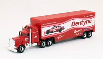 "Kenworth Aerodyne w/Low Bed Trailer ""Joe Nemechek Racing"" (Red)"
