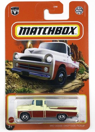 1957 Dodge Sweptside Pickup (Cream/Red)