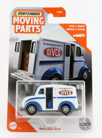 1:64 Moving Parts Divco Milk Truck (White)
