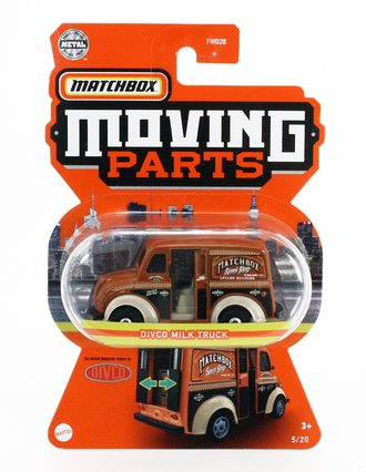 1:64 Moving Parts Divco Milk Truck (Brown)