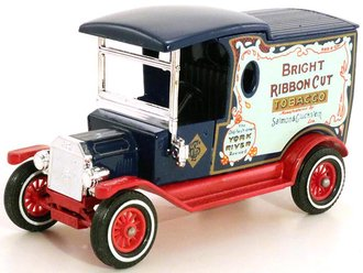 """1912 Ford Model T Van """"Bright Ribbon Cut Tabacco"""" (Black/Red) - Private Edition of 1000"""