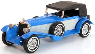 1928 Mercedes-Benz SS Coupe (Top Up) (Blue/Gray/Black)