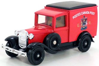 "1930 Ford Model A Van ""Postes Canada Post"" (Red/Black) - Limited Edition"