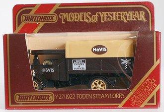 """1922 Foden Steam Lorry """"Hovis"""""""