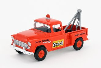 """1955 Chevrolet 3100 Pickup """"Champion Towing"""" (Red)"""