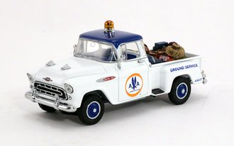 """1:43 1957 Chevy Pickup """"American Airlines"""" w/Luggage"""