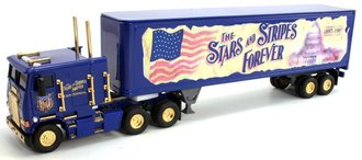 "1:55 Freightliner COE w/Van Trailer ""The Stars and Stripes Forever"""