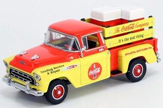 "1:43 1957 Chevy Pickup ""Coca-Cola"" w/Coke Machines"