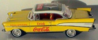 1:43 Coca-Cola 1957 Chevrolet Bel Air (Yellow/Cream)