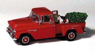 1955 Chevy Pickup w/Christmas Tree