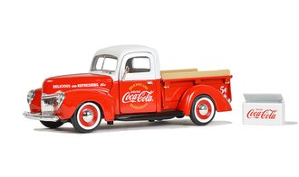 1:24 Coca-Cola 1940 Ford Pickup w/Commercial Cooler